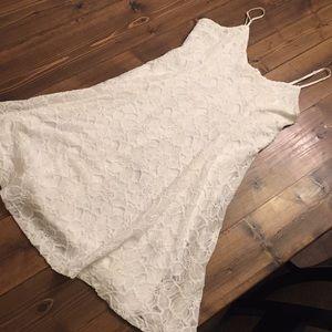 Everly lace dress medium white